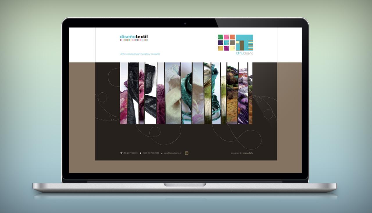 Diseño Web y programación en Flash para el estudio textil APU Diseño.